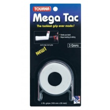 Tourna Mega Tac Overgrip 3er weiß