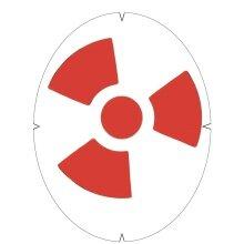 Tourna Logoschablone Tennis - Motiv Radioaktiv