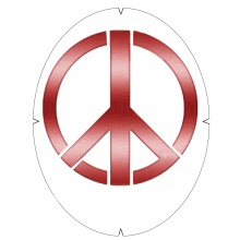 Tourna Logoschablone Tennis - Motiv Peace
