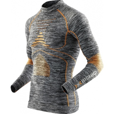 X-Bionic Energy Accumulator Evo Melange Turtle Neck Shirt 2016 grau Herren