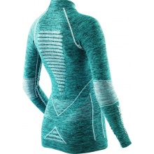 X-Bionic Energy Accumulator Evo Melange Turtle Neck Shirt blau Damen