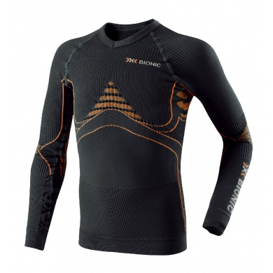 X-Bionic Energy Accumulator Longsleeve schwarz/orange Junior