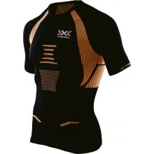 X-Bionic Running The Trick Shirt Short Sleeve schwarz/orange Herren