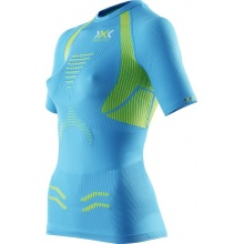 X-Bionic Running The Trick Shirt Short Sleeve blau/gelb Damen