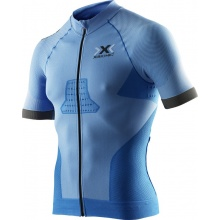 X-Bionic Bike Race Evo Shirt Short Sleeve Full Zip blau Herren