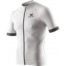X-Bionic Bike Race Evo Shirt Short Sleeve Full Zip 2017 hellgrau/anthrazit Herre