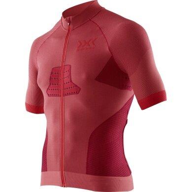 X-Bionic Bike Race Evo Shirt Short Sleeve Full Zip 2018 rot Herren