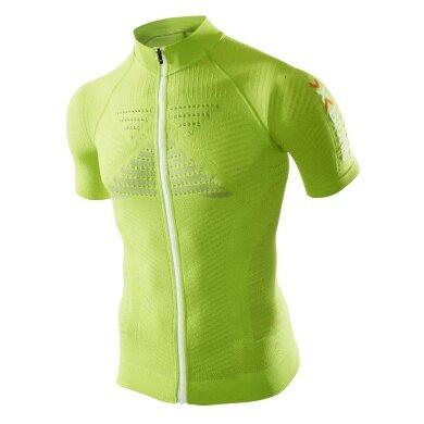 X-Bionic Bike Effektor Power Tshirt Full Zip lime Herren