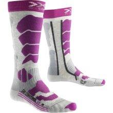 X-Socks Skisocke Control 2.0 grau/violett Damen