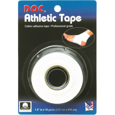 Unique Athletic Tape selbstklebend (atmungsaktives Baumwollband) 9,1m weiss