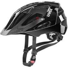 uvex Fahrradhelm quatro schwarz glänzend