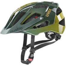 uvex Fahrradhelm quatro dunkelgrün/senfgelb