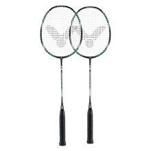 Victor Atomos 600 grün Badmintonschläger (2er SET) - besaitet -