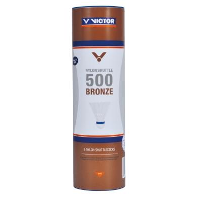 Victor Shuttle 500 Nylonbälle weiss 6er