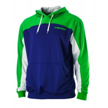 Head Hoody Cortex blau/lime Herren