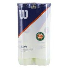 Wilson Tennisbälle Roland Garros Allcourt Dose 2x4er