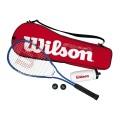 Wilson Starter Kit Squash (1x Schläger, 1x Trinkflasche, 2x Bälle, 1x Tasche)