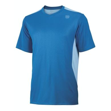 Wilson Tshirt V-Neck Claim Victory blau Herren