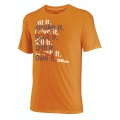 Wilson Tshirt Hit It orange Herren (Größe L)