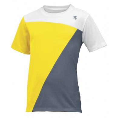 Wilson Tshirt Tough Win weiss/gelb/grau Boys