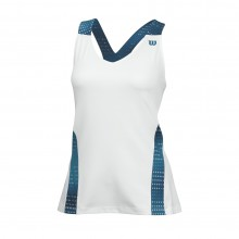 Wilson Tank Summer V-Neck Color Flight 2015 weiss Damen