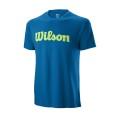 Wilson Tshirt Script Cotton 2019 blau Herren