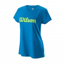 Wilson Shirt Script Cotton II 2019 blau Damen