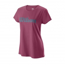Wilson Shirt Script Cotton II 2019 plum Damen