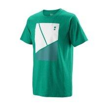Wilson Tshirt Tramline Tech 2019 grün Boys