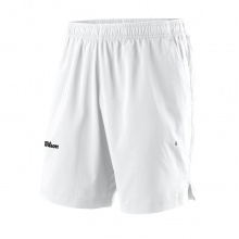 Wilson Tennishose Short Team II 8in - ohne Innenhose - kurz weiss Herren