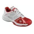 Wilson Rush Pro weiss/rot Tennisschuhe Kinder
