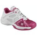Wilson Rush Pro weiss/pink Tennisschuhe Kinder (Größe 38)
