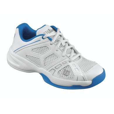 Wilson Rush Pro weiss/blau Tennisschuhe Kinder