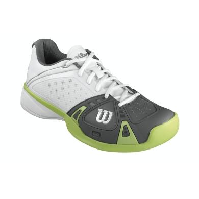 Wilson Rush Pro Clay weiss/graphite Tennisschuhe Herren