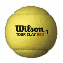 Wilson Tour Red Clay Tennisbälle 4er