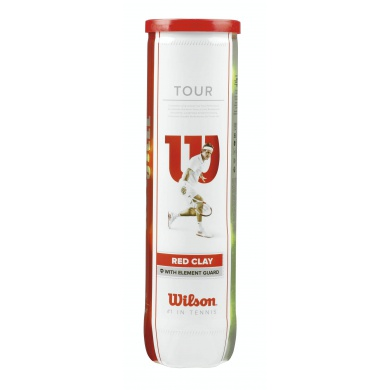 Wilson Tour Red Clay Tennisbälle 4er