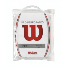 Wilson Pro Perforated 0.55mm Overgrip 12er weiss