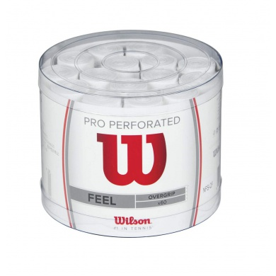 Wilson Overgrip Pro Perforated 0.6mm weiss 60er Box