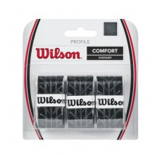 Wilson Profile 0.6mm Overgrip 3er schwarz
