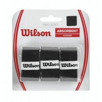Wilson Pro Soft Overgrip 3er schwarz