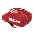 Wilson Racketbag Tour V 2016 rot 9er