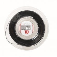 Wilson Synthetic Gut Power schwarz 200 Meter Rolle