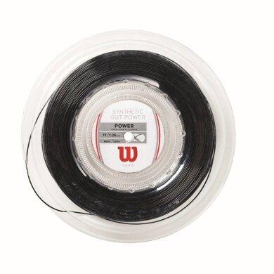 Wilson Synthetic Gut Power 1.25 schwarz 200 Meter Rolle