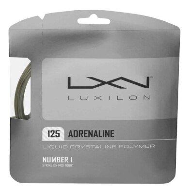 Luxilon Adrenaline silber Tennissaite
