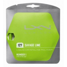Besaitung mit Luxilon Savage lime