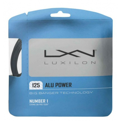 Luxilon Alu Power 1.25 silber Tennissaite
