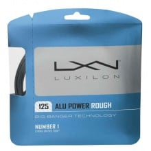 Luxilon Alu Power Rough 1.25 silber Tennissaite