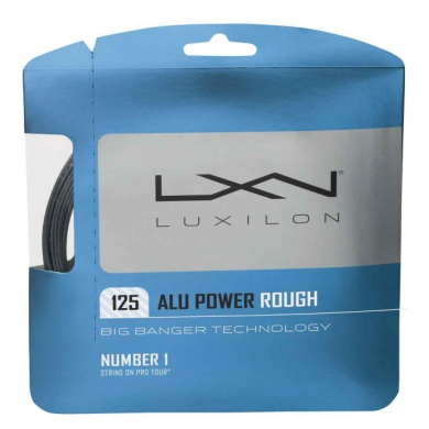 Luxilon Alu Power Rough silber Tennissaite