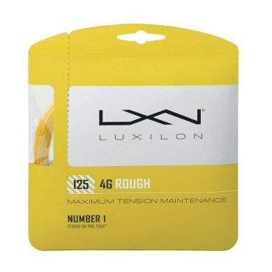 Luxilon 4G Rough 1.25 gelb Tennissaite