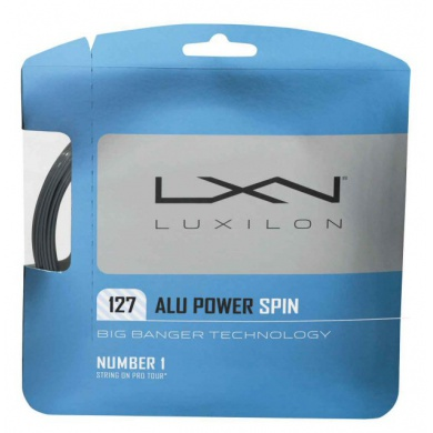 Luxilon Alu Power Spin 1.27 silber Tennissaite